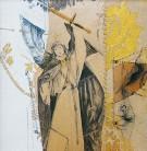 Kampf | 2002 - 2003 | Druck und Zeichnung auf Stoff | je 22x22 cm