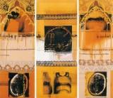 Serie Correcturas Simulativas | 1996 - 1997 | Mischtechnik auf Stoff | 165x190 cm