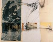 Serie Di-Simulaciones | 1997 - 1998 | Siebdruck und Zeichnung auf Stoff | 135x170 cm