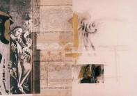 Serie Di-Simulaciones | 1998 - 1999 | Siebdruck und Zeichnung auf Stoff | 125x175 cm