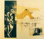 Serie Di-Simulaciones | 1998 - 1999 | Siebdruck und Zeichnung auf Stoff | 140x130 cm