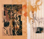Serie Di-Simulaciones | 1998 - 1999 | Serigrafia y Dibujo sobre género | 170x155 cm
