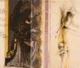 Serie Di-Simulaciones | 1997 - 1998 | Siebdruck und Zeichnung auf Stoff | 150x130 cm