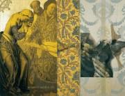 Serie La Falta | 2004 | Siebdruck, Zeichnung und Gold auf Stoff | 140x180 cm
