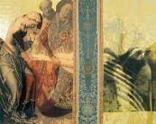 Serie La Falta | 2004 | Siebdruck, Zeichnung und Gold auf Stoff | 140x175 cm