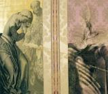Serie La Falta | 2004 | Siebdruck, Zeichnung und Gold auf Stoff | 135x155 cm