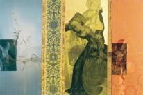 Serie La Falta | 2004 | Siebdruck, Zeichnung und Gold auf Stoff | 140x210 cm