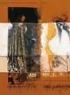 Serie Di-Simulaciones | 1997 - 1998 | Siebdruck und Zeichnung auf Stoff | 165x125 cm