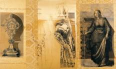 Serie Passionszyklus | 2000 - 2002 | Siebdruck und Zeichnung auf Stoff | 155x280 cm
