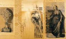 Serie Passionszyklus | 2000 - 2002 | Serigrafia y Dibujo sobre género | 155x260 cm