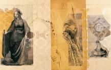 Serie Passionszyklus | 2000 - 2002 | Siebdruck und Zeichnung auf Stoff | 165x260 cm