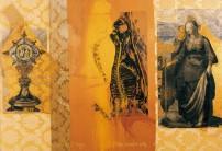 Serie Passionszyklus | 2000 - 2002 | Siebdruck und Zeichnung auf Stoff | 180x260 cm