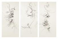 Tengo sed - Mich dürstet | El grito - 198 x 308 cm | Zeichenkohle und Pastell auf Papier | 2013